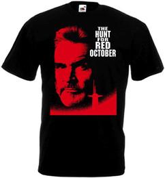 T-shirt rouge femme taille libre en Ligne-LA CHASSE POUR LE T-shirt OCTOBRE ROUGE noir Affiche de film toutes les tailles ... 5XL hommes femmes mode unisexe t-shirt livraison gratuite drôle