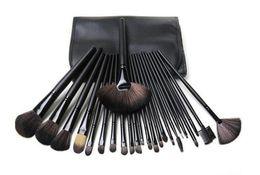Pinceles de maquillaje de 24 piezas online-Dropshipping Nuevos pinceles de maquillaje Conjuntos de pinceles de 24 piezas con funda de cuero en stock con regalo