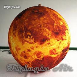 Canada Accrochage adapté aux besoins du client grand ballon suspendu / au sol de sphère de Venus d'or d'éclairage gonflable pour la décoration de boîte de nuit et de partie cheap large inflatable decorations Offre
