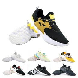 shoes flat feet men Promo Codes - Cheaper Presto Mid Epic React Men Women Running Shoes Comfortable Foot Feel Mesh Breathable Sneakers Black White Casual Shoes