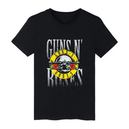 2021 rose t shirt uomo Guns and Roses Mens T-shirt Nero Estivo in cotone a maniche maglietta e Rock Band T shirt Uomo di Hip Hop in T rose t shirt uomo economici