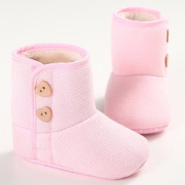 Cuore a forma di stivale online-Winter Newborn Baby Shoes Soft Warm Girls Heart Shape Boot First Walker Toddler Boots