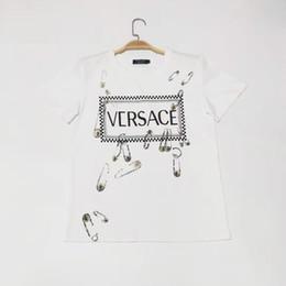 camiseta ultra delgada blanca Rebajas 912 2019 Marca de otoño Camisetas del mismo estilo Ropa de mujer Carta blanca Tops de mujer Algodón Moda XIUYIGE