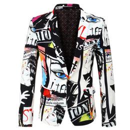 2019 beste hüftengröße 2019 neue Anzug Jacke Herrenmode Print Blazer Größe S-XXXL meistverkaufte Herren Slim Casual Blazer Herren Hip Hop Sänger Anzug Jacke günstig beste hüftengröße