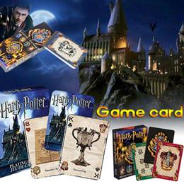 Harry Potter Gioco di carte da gioco Gioco di carte magico per bambini Set di mazze inglesi Divertimento in famiglia Giocattoli per bambini Regali SS263 da yu gi oh natale fornitori