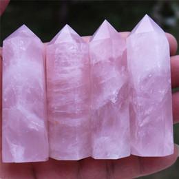 1 Pz Fluorite Naturale Cristallo Fluorite Pietra Magic Rose 5-6 cm Cristallo di Quarzo Pietra Point Healing Bacchetta Esagonale Trattamento Pietra C19021601 da