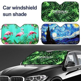 Regenwald Auto Windschutzscheibe Sonnenschutz Universal Fit Auto Sonnenschutz-Halten Sie Ihr Fahrzeug k/ühl UV-Sonne und Hitze Reflektor