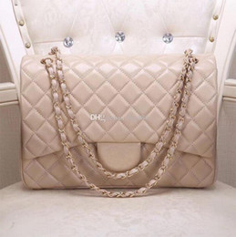 33 cm Große Umhängetaschen Paris Luxus Designer Handtasche Echtes Leder Diamantgitter Hohe Qualität Frau Mode Tasche Modell 58601 von Fabrikanten