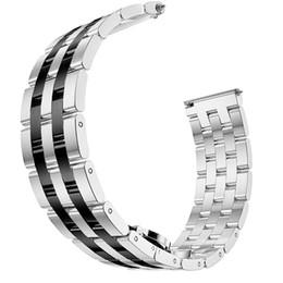 dw assistir faixas Desconto 22mm Banda para Samsung Galaxy Relógio 46mm / Engrenagem S3 Faixas de Aço Inoxidável Borboleta de Metal Fivela Cinta para Engrenagem S3 Fronteira / Clássico
