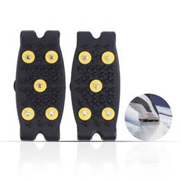crampi di arrampicata Sconti Traction Cleats Ice Snow Grips Con Stud Crampon Slip-on per Walking Jogging Arrampicata ed escursionismo