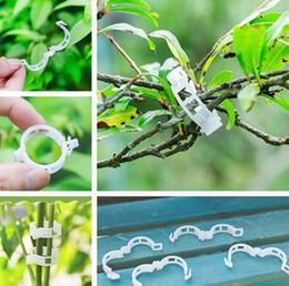 Utensili per ortaggi online-Fisso clip gancio vegetale pomodoro melone Supporto vegetale clip di plastica legato rattan clip pomodoro anello fibbia attrezzi da giardino T7I5018