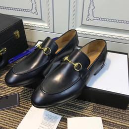 halb lässige kleider Rabatt Herrenschuhe Luxus Echtleder Business Office Herrenschuhe Hochwertige klassische Horsebit Hochzeit Oxford Schuhe