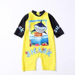 traje de baño coreano azul Rebajas Verano para niños Bikini para niños 0-2 años Bebé pequeño tiburón tiburón Traje de baño de una pieza Traje de baño Bebé niños Ropa de playa Traje de baño Pinkfong Tiburón
