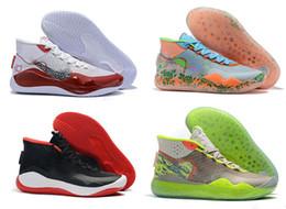kd shoes para hombre negro Rebajas Zapatos de baloncesto CALIENTE XII KD 12 deportes para hombre de calidad superior Triple Black 12s rojas de diseño zapatillas de deporte de Formadores 7-12