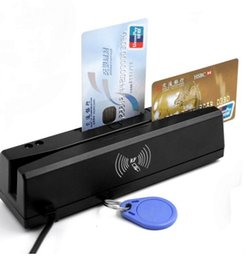 lector de rfid usb Rebajas X ZCS160 USB 1 2 3 pistas de banda magnética Lector de tarjetas RFID 13.56MHZ IC lector de tarjetas EMV escritor de Apoyo para el PSAM 4 en 1 IC / EMV / PSAM / Magnética