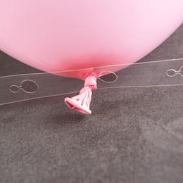 Decoração de fita on-line-DIY 5 M De Plástico Transparente Fita Balão Fita Arch Decor Strip Conectar Cadeia Fita Para Fontes de Festa de Aniversário de Casamento