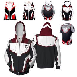 Sudaderas vengadores online-XXS-4XL Avengers Endgame Sudaderas con capucha impresas a color en 3D Sudaderas casuales Chaqueta de abrigo Cosplay Disfraz Pantalones / camiseta