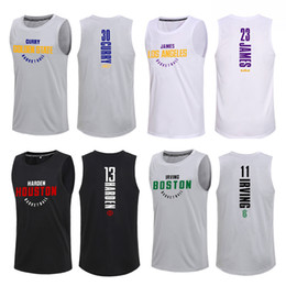 2020 camisetas de gimnasia Basketball Vest Fans Jerseys Sport T Shirts Sleeveless Tee Gyms Clothing Training Uniforms Quick Dry Sportwear Jogging Tops for Men camisetas de gimnasia baratos