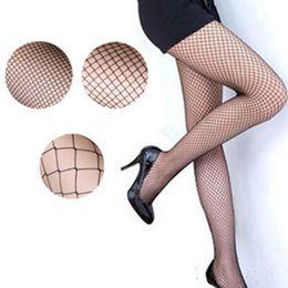 piedi in nylon a ginocchio Sconti Donne sexy collant a rete calze di nylon collant calza lunga jacquard passo cucitura collant alto sopra ginocchio 2019