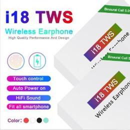 2019 ventana de cable i18 tws Touch 5.0 Auriculares inalámbricos Bluetooth con ventana emergente Auriculares estéreo Encendido automático Emparejamiento automático entrega rápida rebajas ventana de cable