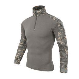 Camicia uniforme tattica online-Maglietta manica lunga uniforme Multicam uomo Camouflage Army Combat Shirt Paintball Clothes Tactical