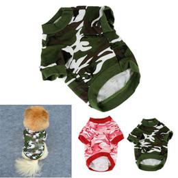2019 cappotti doggy Nuovo cucciolo Doggy Camouflage Coat T-shirt Pet Dog Cat Camo Abbigliamento Hoody Abbigliamento Armata Rossa Verde sconti cappotti doggy