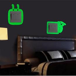 Cute Cartoon luminoso interruttore adesivi parete copertura soggiorno creativo camera da letto presa decorazione 2019 nuovo arrivo da