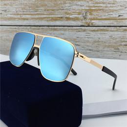 Film pour lentille de lunettes de soleil en Ligne-Nouveau populaire lunettes de soleil de designer de mode MYKITA OAK Ultralight Square Cadre en métal Top qualité lunettes de soleil UV400 Couleur film Lentille Avec Boîte