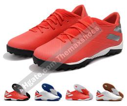 2019 zapatos de fútbol de interior messi 2019 New Mens Nemeziz Messi 19.3 TF IC 19 Indoor Outdoor Turf Soccer Zapatos de fútbol Botas Scarpe Calcio Botines baratos Tamaño 39-45 rebajas zapatos de fútbol de interior messi