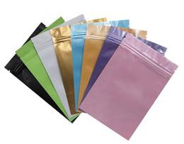 Aluminiumfolienbeutel online-100 stücke eine farbe versiegelt tasche langlebige aluminiumfolie reißverschlusstasche umweltfreundliche plastiktüten für langfristige lagerung von lebensmitteln zwei seiten farbig