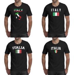 bandierine irlandesi Sconti Stampa uomo bandiera italiana mappa irlandese italia maglietta nera personalizzata Hip hop Crazy camicie Cartoon Italy Love Italia colori patriottici I
