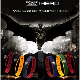 c9e63cd26e72 Hero Power Ionics 3000 Iones Idea Banda Deportes Pulsera de titanio Pulsera  Equilibrio Cuerpo humano Y19051002 barato pulseras de energía iónica