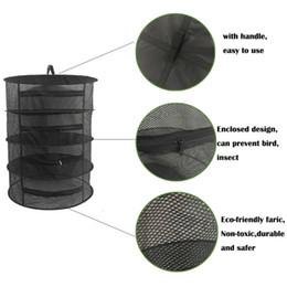Hierba seca neta online-Rack de secado de hierbas Neto Secador de hierbas de 4 capas Bastidores de secado de malla con cremallera