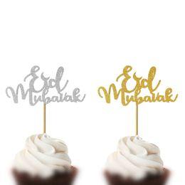 bolo de casamento preto topper Desconto 5 pcs Toppers Do Bolo Eid Mubarak Festa de Aniversário Do Chuveiro de Bebê de Casamento Decoração Ramadan Ouro Preto 8 Estilo Cupcake Topper Muçulmano De Cozimento