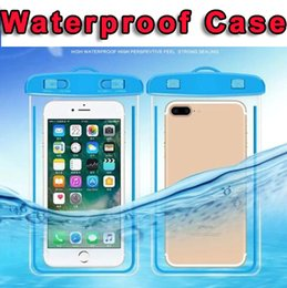 bolsa iphone Rebajas Bolsa impermeable Bolsa seca Bolsa de PVC Bolsa de teléfono móvil con bolsas de brújula Para buceo Deportes de natación para Iphone 8 7 6 Plus X S9 6 pulgadas universal