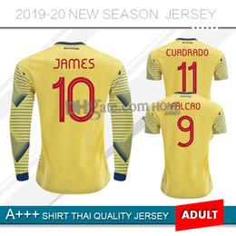 kolumbien trikot james Rabatt 2019 Colombia Home Fußball-Trikots 19 20 Colombia Langärmeliges James Falcao-Sporttrikot von Rodriguez Futbol Camisa