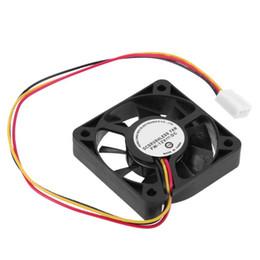 ventilador 5cm Desconto 1/2/5 Pcs 3 Pin CPU Cooling Fan cinco centímetros GPU Cooling Fan cooler do processador dissipadores de calor do radiador CPU Ventilador Para PC computador portátil