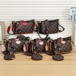 famosas marcas de equipaje Rebajas 2020 nuevo del estilo mujeres de lujo bolsos de señora PU bolsos de cuero de la marca bolsos del monedero del hombro M bolsa de asas femenina # 8811