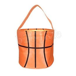 Argentina béisbol cesta de Pascua deporte de la lona Fútbol Baloncesto Fútbol Hockey cubo de almacenamiento de la bolsa caramelo de la cesta niños AAA1879 regalo del bolso Suministro