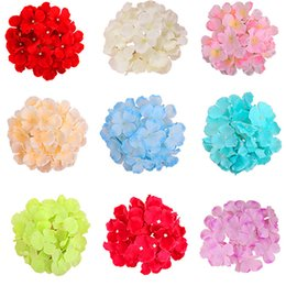 """Tiges de décoration en Ligne-Hydrangea tête 50 pièces 6"""" avec des tiges hortensias décorer pour les fleurs faux mur de fleurs de décoration maison bricolage"""