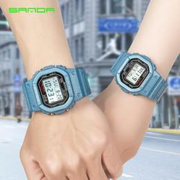 2019 relógios de pulso 2019 New Denim Esporte Assista amantes LED Relógios À Prova D 'Água Resistente Ao Choque Relógio relogio masculino para mulheres e homens relógios digitais relógios de pulso barato