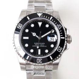 Taucheruhr saphir online-N High Buality Factory V7 Luxury Watch Herren Automatic Eta 2836 Uhren 116610LN Dive Sapphire Watches Dhl-freies Verschiffen Armbanduhr