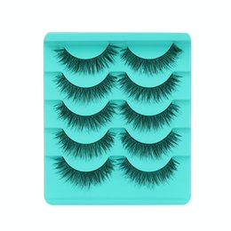 завиток Скидка 6Pairs individual mink lashes 3D eyelashes natural long invisible thin band stage lashes curl soft extensions circle rose box