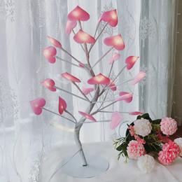 Meninas rosa decoração on-line-LED Amor Cor Luzes Da Menina Adolescente Quarto Coração Decoração Candeeiro De Mesa De Presente Pequeno Romântico Decoração Do Quarto Rosa Criativo 34xbC1