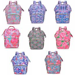 7 stilleri Lily Anne Sırt çiçek baskılı Anne Bezleri Çanta Moda Anne Sırt Çantası Bezi Analık Büyük Hemşirelik Açık çanta FFA1897 cheap mommy backpack nereden anne sırt çantası tedarikçiler