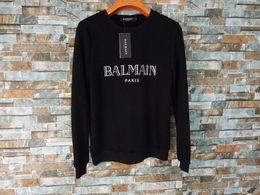 Wholesale Sweater - Balmain Hoodies Mens Designer Hoodies Street Hip Hop High Quality Loose Fit Womens Luxury Hoodie Mens Designer Sweaters