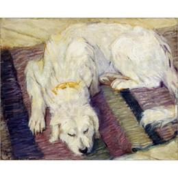 Peintures Franz Marc chien couché (portrait de chien) toile art moderne abstrait décor peint à la main ? partir de fabricateur