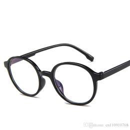 Gläser online-RA55 Runde Form Brillengestell Klare Linse Brille Rosa Gelee Vintage Form Kunststoff Koreanische Designer Kostenloser Versand Global City
