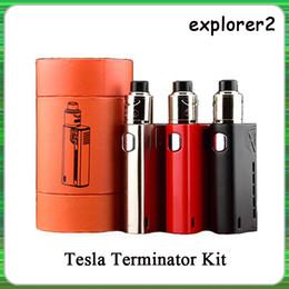 2019 terminateur mod démarreur Top Qualité Tesla Terminator Kit 90W TC Starter Kit VW 18650 Boîte À Piles Mod Antman 22 RDA Atomiseur DHL Gratuit promotion terminateur mod démarreur