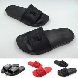 le scarpe delle scarpe da spiaggia Sconti 2019 Fashion Luxury Womens Designer Pantofole Moda uomo Appartamenti Open-Toe Sandali Medusa Scarpe di grandi dimensioni Beach Youth Party diapositive Scarpe
